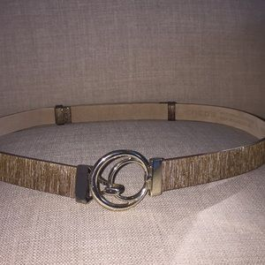 Chico's Shimmering Gold Adjustable Belt